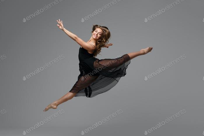 Woman dance studio beautiful