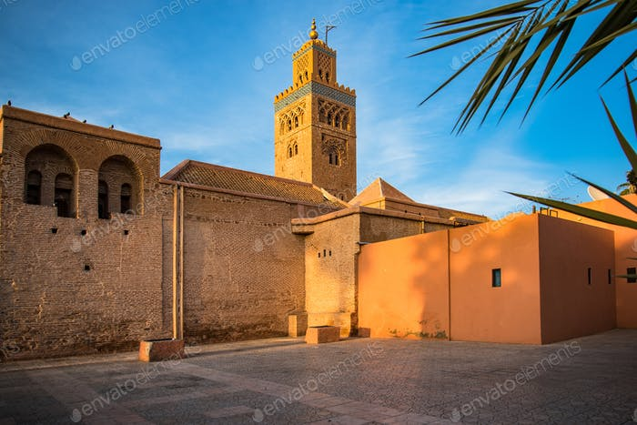 Marrakesh Koutoubia Mosque in warm sun light