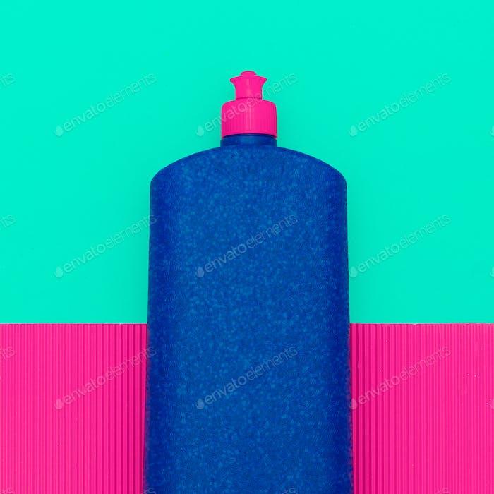 detergent bottle. Minimal art design