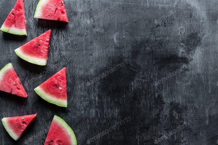 Sliced watermelon background