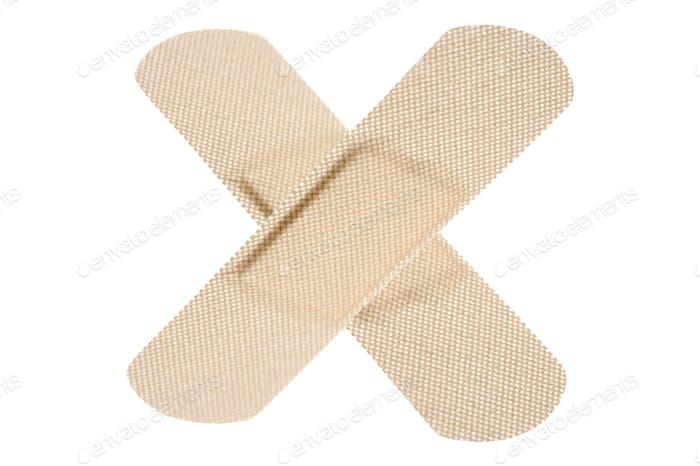 adhesive bandage isolated on white