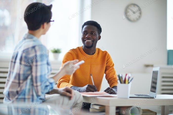 Gespräch von Managern