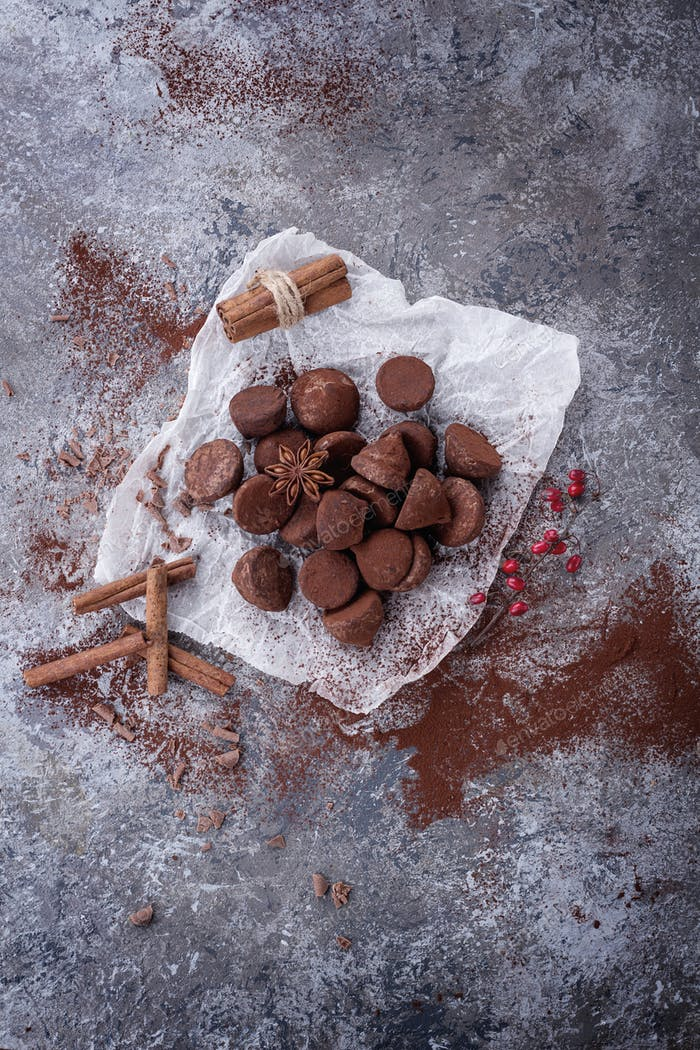 Home made chocolate truffles