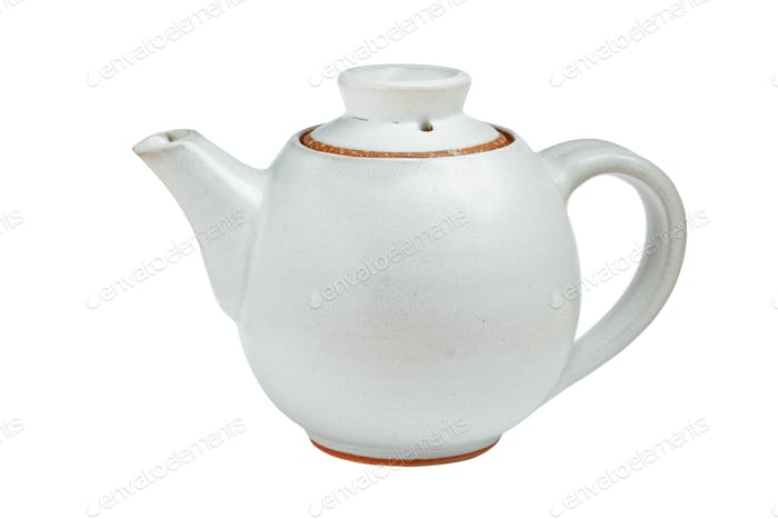 Chinese tea pot isolated