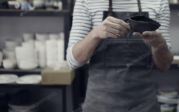 Craftsman Artist Pottery Geschicklichkeit Workshop Konzept