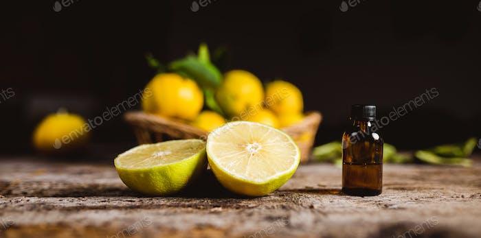 Bergamot Fruit Essence in a Little Bottle