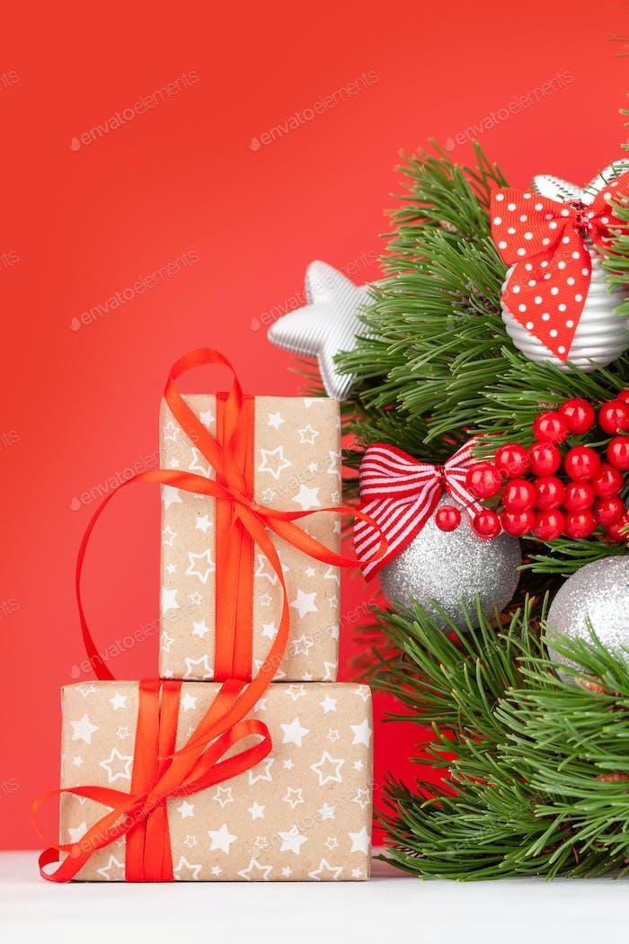 Weihnachtskarte mit Tannenbaum