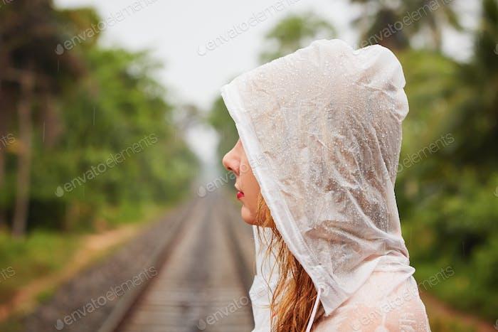 Trip in heavy rain