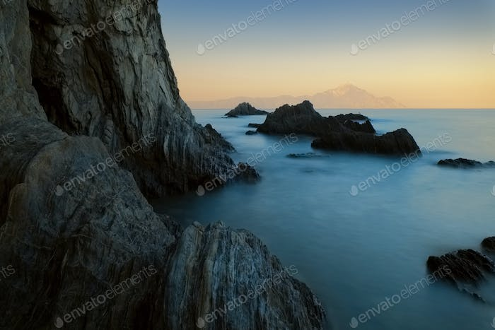 Long exposure sunset seascape
