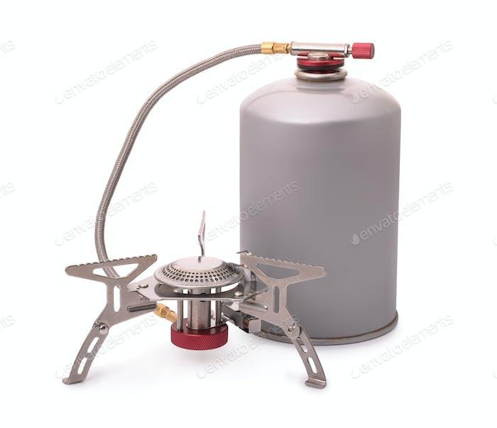 Portable camping burner stove
