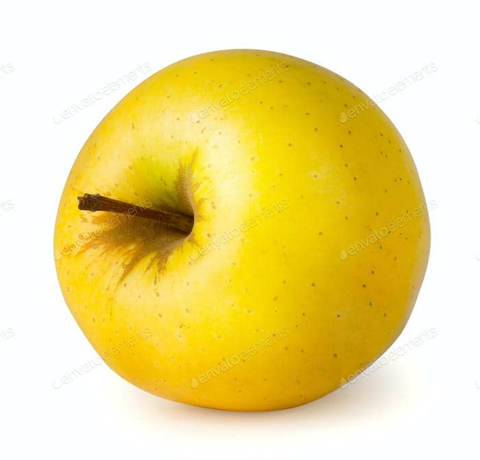 Ripe yellow apple