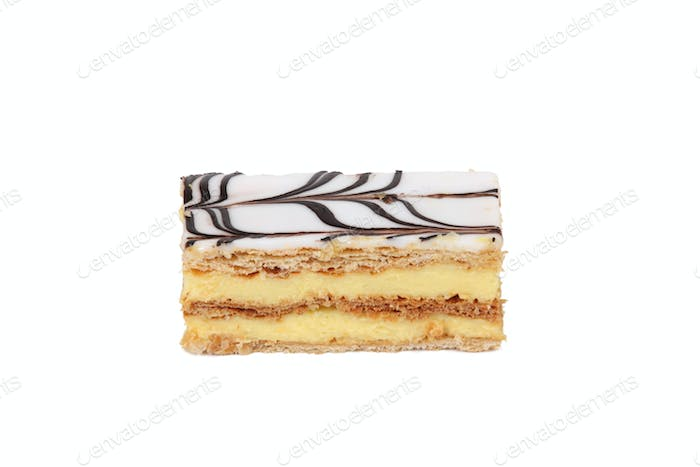 Side view of vanilla slice