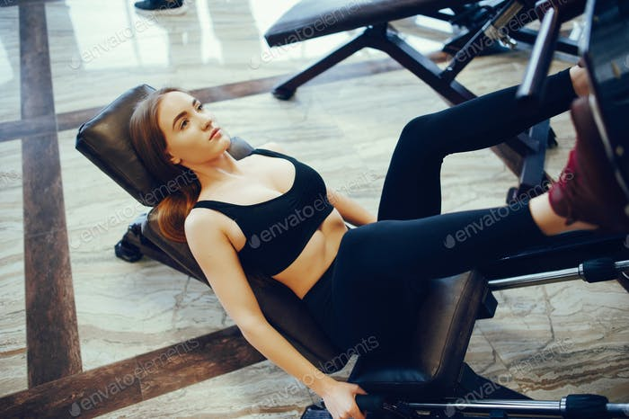 Thumbnail for Sports girl in a morning gym
