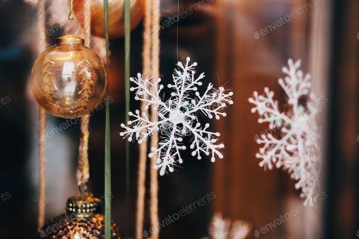 Stylish christmas decorations, acorn ornament