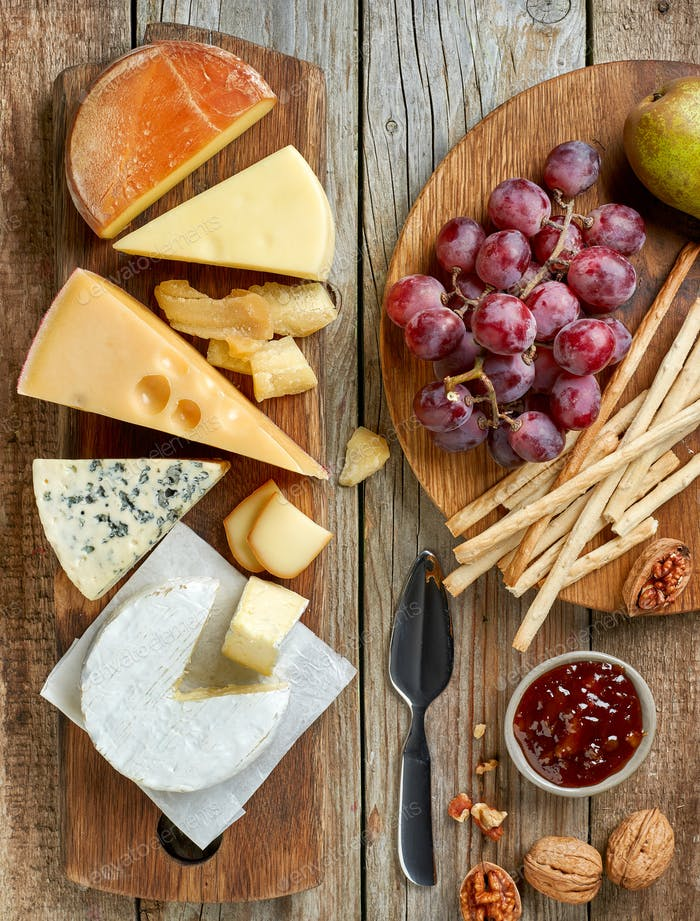 verschiedene Käsesorten