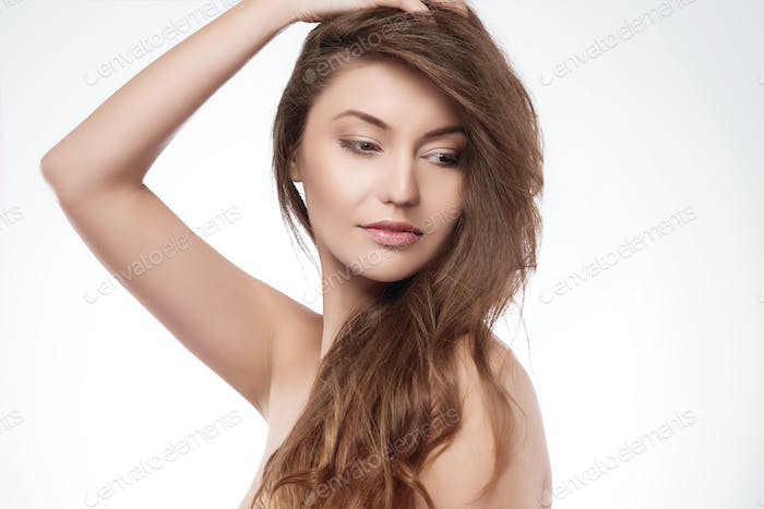 Beautiful woman with amazing hair