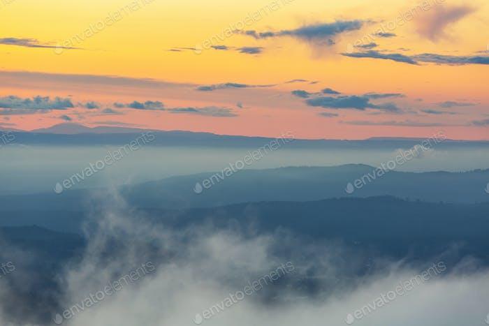 Berge Silhouette