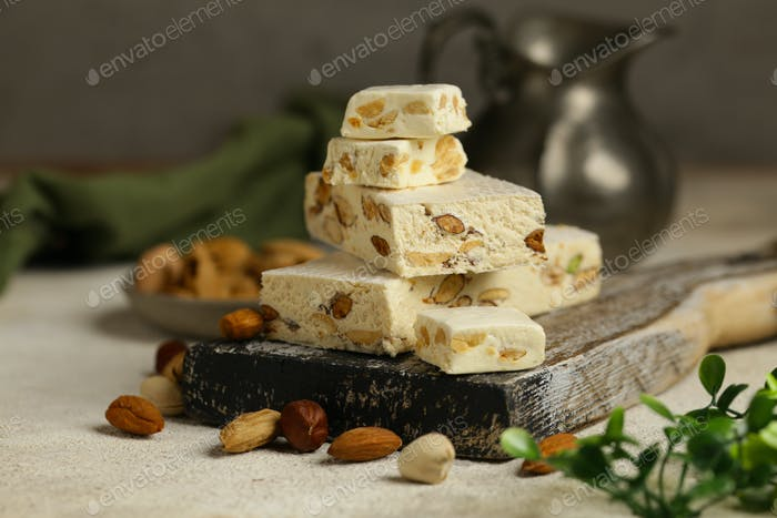 Traditional Nougat with Nuts