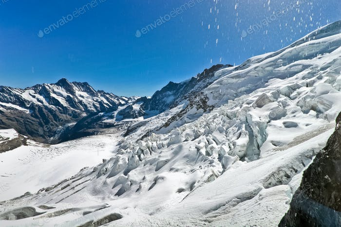 Glacier on the top of Jungfrau