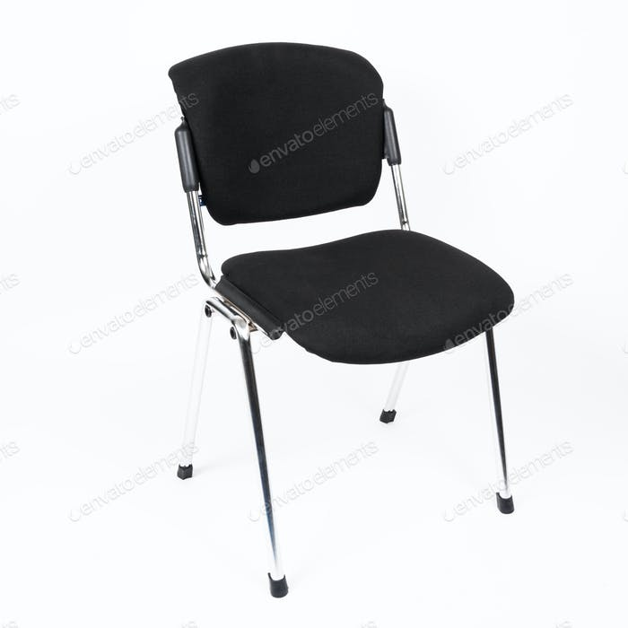 Black office chair isolated