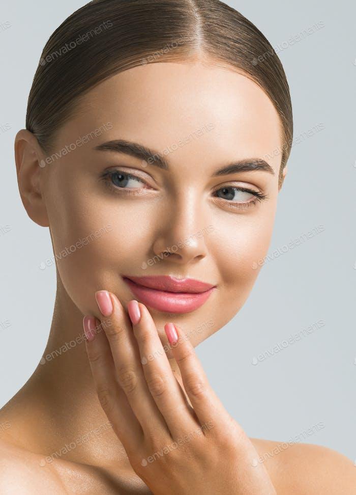 Woman Beauty Portrait. Natural classic make up