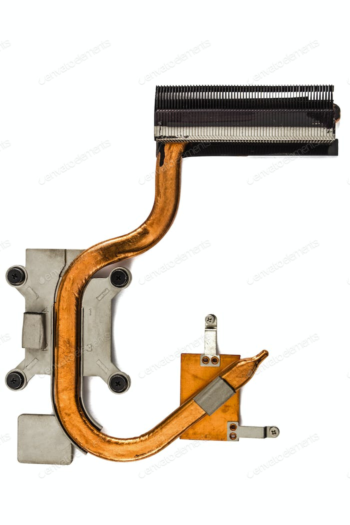 Heatpipe and radiators for cooling of computer processor, coolin