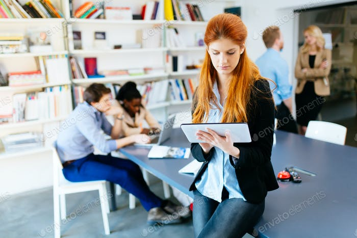 Businesswoman in modern office