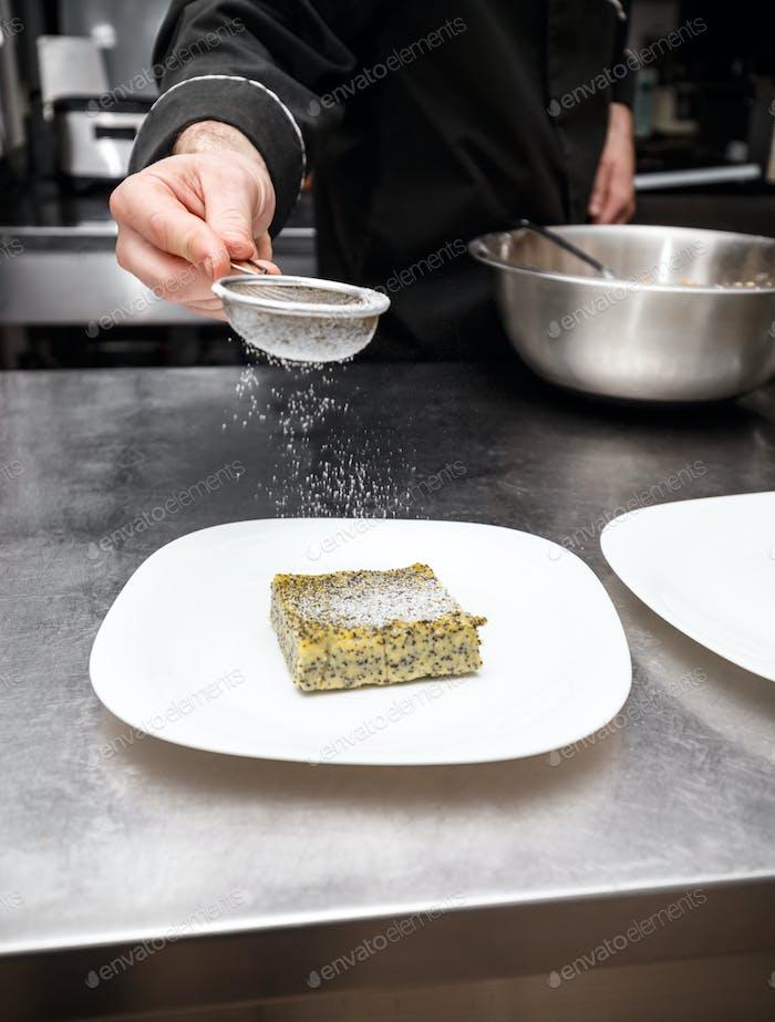 Fresh polenta cake