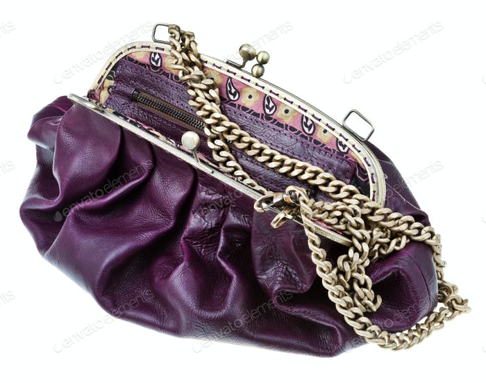 retro style leather bag