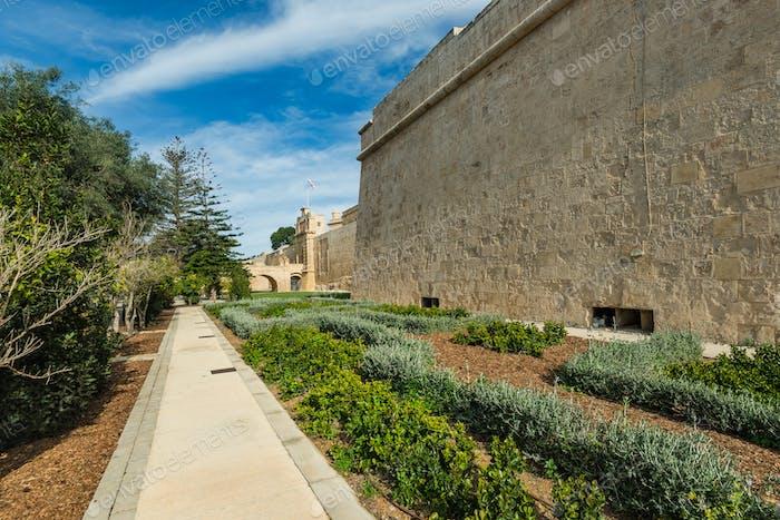 Gärten in Mdina, Malta