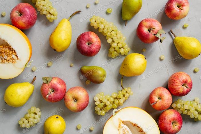Fresh Seasonal Fruits Pattern