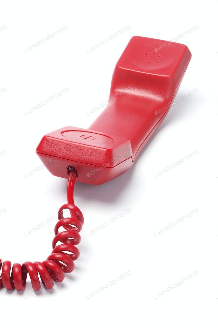 Red Telephone Handset
