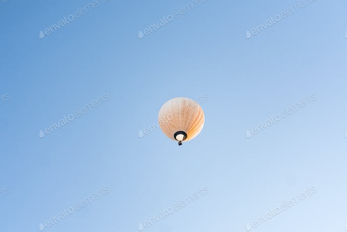 Flying balloon in the sky