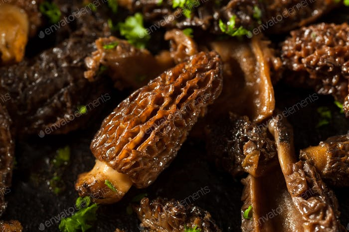 Organic Sauteed Morel Mushrooms