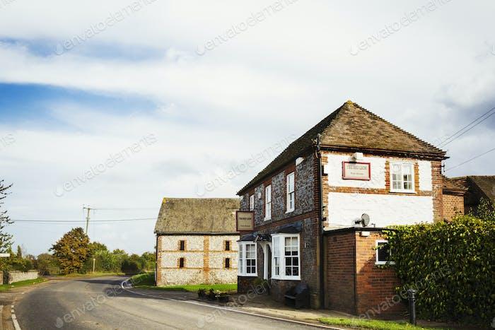 The Red Lion public house, a village pub.