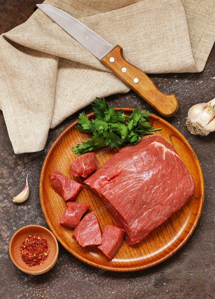 Rohfleisch Rindfleisch