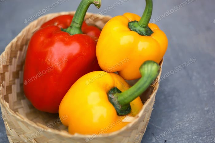 Red and Yellow Paprika
