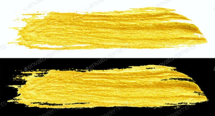 yellow gold colored doodle smear stroke brush