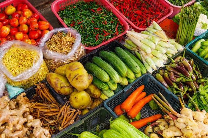 Hortalizas en el mercado