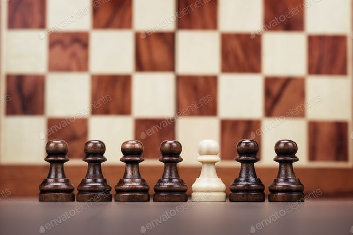 Uniqueness Concept Over Chessboard Background