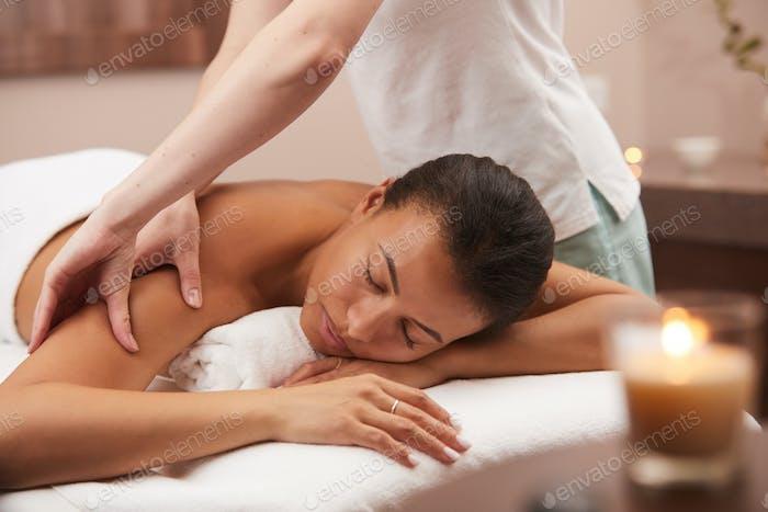 Woman Enjoying Spa Therapy