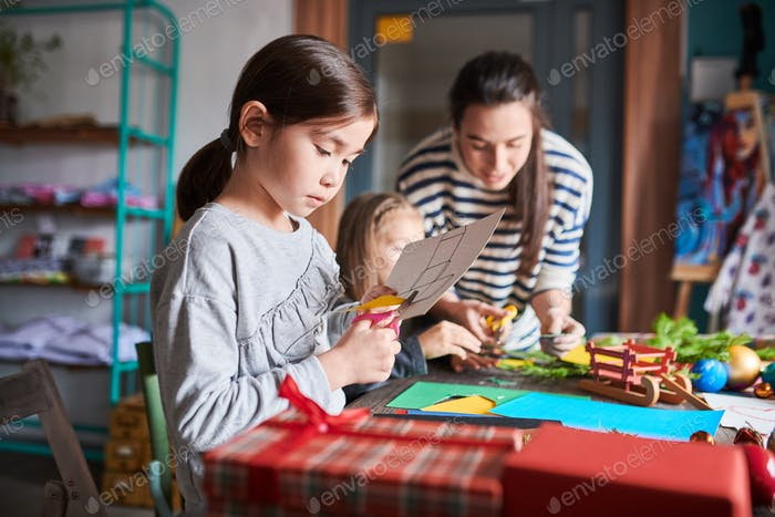 Girl Making Handmade Presents