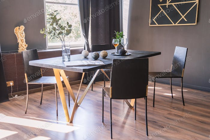 Wooden Dining room table and chair