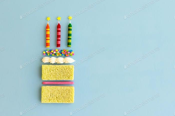 Birthday cake, top view