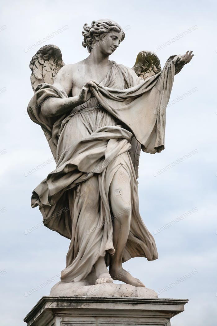 figure of Angel on Ponte Sant Angelo in Rome