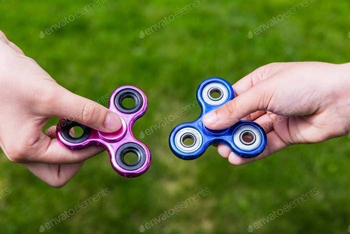 Popular toys fidget spinners