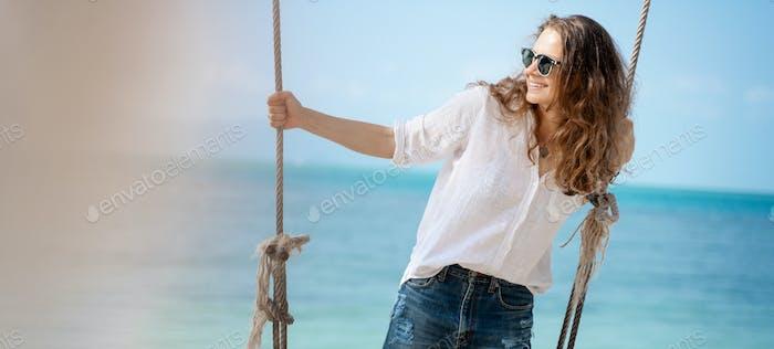 Pretty girl on the beach