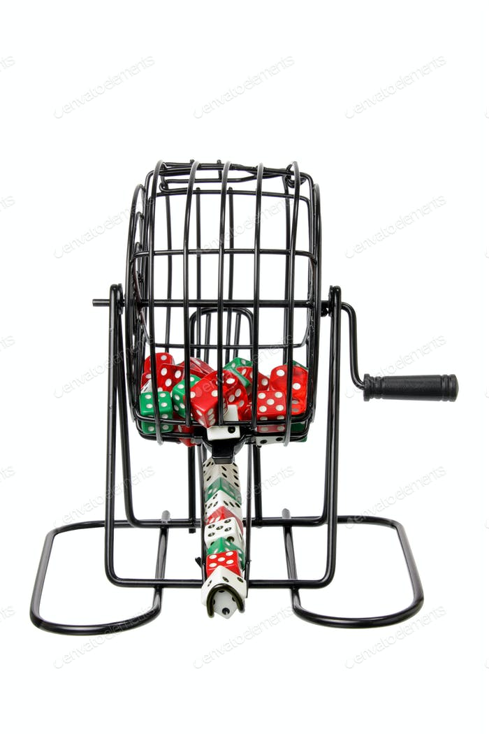 Bingo Game Cage with Dice