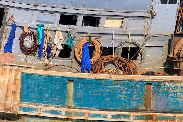 thai fishing boat at the harbor