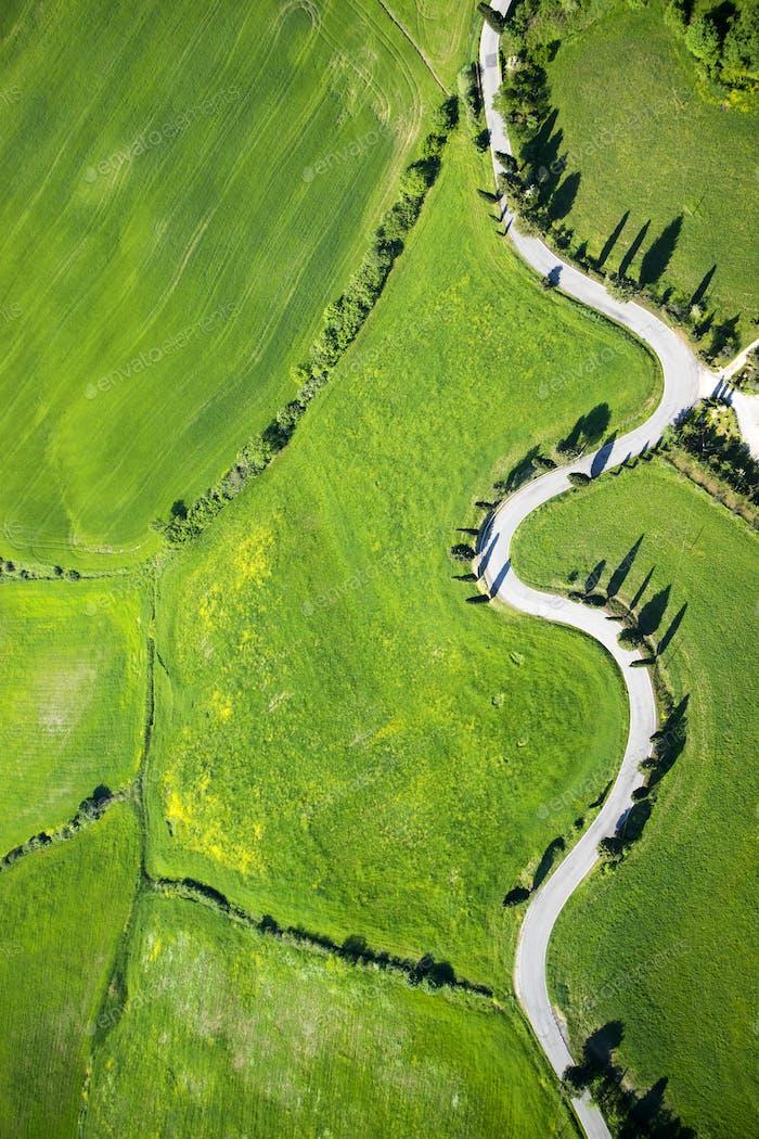 Road of Montichiello Siena
